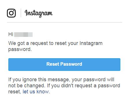 как восстановить пароль от инстаграмма