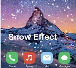 добавить падающий снег на фото приложение