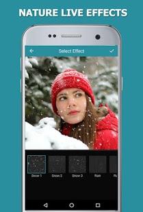 падающий снег на фото приложение